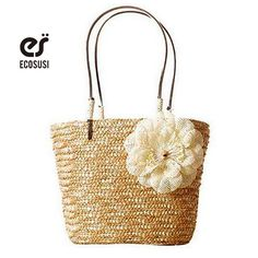 Visit to Buy] Fashion Summer Handmade Rattan Beach Bag Ladies ...