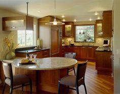 cuisines darty, cuisine ilot central ikea et meubles en bois foncé