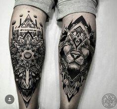 10 awesome leg tattoos for men ideas leg tattoo men wrist tattoo pattern tattoos mandala tattoo Best Leg Tattoos, Trendy Tattoos, Unique Tattoos, Body Art Tattoos, Cool Tattoos, Tattoo Art, Small Tattoos, Lion Leg Tattoo, Knee Tattoo