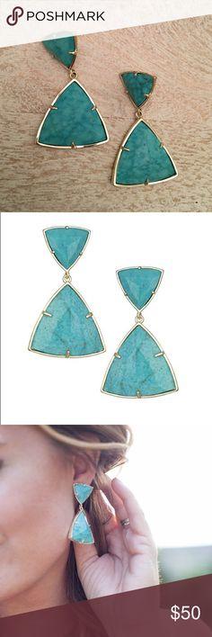 KS Maury earring KS Maury statement earring in Variegated turquoise. Kendra Scott Jewelry Earrings