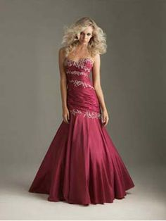"Trumpet/Mermaid Sweetheart Burgundy Beading Embroidery Satin Floor-length Prom Dress at Millybridal.com   lilyjane says...""I love this"""