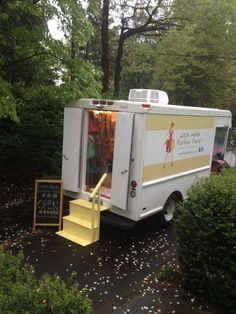 little white fashion truck - our own local boutique on wheels!