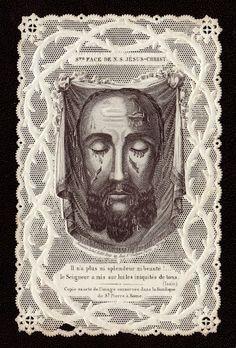 SANTA FAZ DE JESUCRISTO, estampa calada, circa 1870