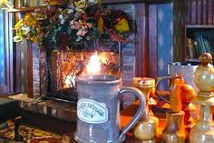 Hot Cider by the fire at Irish Hollow Inn (Galena IL)