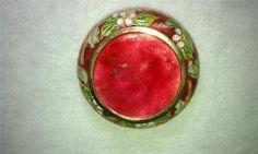 Vintage Porcelain Boxes | Vintage Porcelain Jewelry Hinged Trinket Round Box with Humming Bird ...