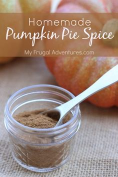 Super easy homemade pumpkin pie spice- this takes fall treats to the next level and tastes so much better then store bought.