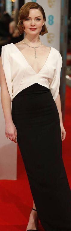 HOLLIDAY GRAINGER IN ANTONIO BERADI at the 2015 BAFTAs