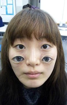 Painted Eyes Portrait » Funny, Bizarre, Amazing Pictures & Videos