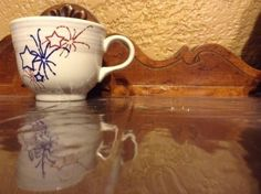 Fiesta® Dinnerware 4th Of July 6oz Tea Cups With Red White Blue Shooting Stars made by Homer Laughlin China | WorthPoint