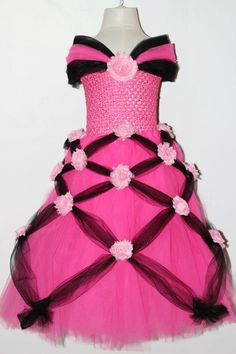 Princess Tutu Dress, Rose Birthday Party Dress, Size 12 Months, 2T, 3T, 4T, Valentines Day, Formal, Photo Shoot, Pageant