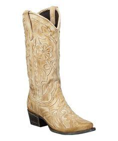 Look at this #zulilyfind! Taupe Poison Leather Western Boot #zulilyfinds