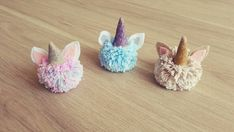 Unicorn pom poms, they are so lovely  #amigurumi #love #crochet #creative #happy #samborondon #ecuador #pompom #pompones #unicorn #unicornio #littlemisspurple #cute #lovely #yarn