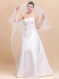 Elegantes 1 capa velos de la boda vals con lápiz Edge - USD $19.99