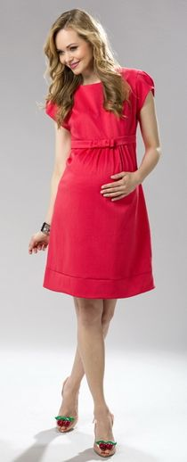 Erin is an expertly tailored sheath dress wih contoured seams. Shop this figure flattering solid ponte dress in a bold classic crimson red. Maternity Nursing Dress, Maternity Gowns, Maternity Fashion, Pregnant Wedding Dress, Baggy Dresses, Nursing Clothes, Pregnancy Outfits, Dress Outfits, Clothes For Women