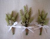 Country chic wheat wedding boutonnieres set of 7 wheat  wedding pin ,rustic wedding ,wheat buttonholes ,groom pin ,groomsmen decor