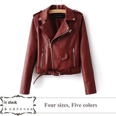 Big sale US $25.52  2017 Lika S-XL New Spring Fashion Bright Colors Good Quality Ladies Basic Street Women Short PU Leather Jacket FREE Accessories  . Available latest products: Womens Casual Jackets.