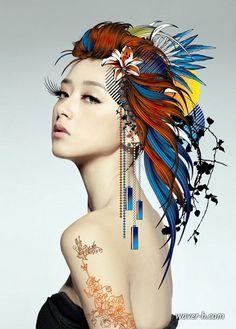 Drawing Mixed Media by Callie Fink | Mixed Media Artwork by Shanghai, China based artist Hu Yi Wei , aka ...