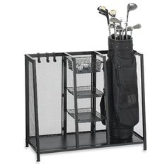 Metal Two Bag Golf Organizer from Bed Bath & Beyond.  LOVE this.  $69.99