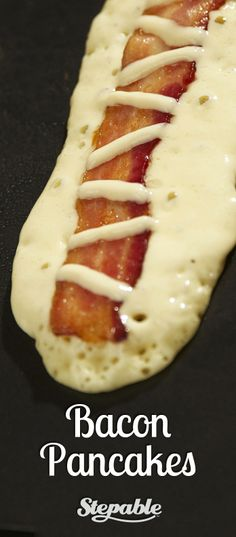 WOW! Here's a really easy way to cook bacon right into your pancakes! These were really easy to make by following the tips and step by step instructions from @Stepable. The pancake batter recipe is also great by itself #recipes #breakfast