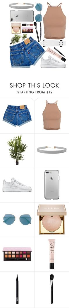 """""""sunny"""" by beautybyee ❤ liked on Polyvore featuring NLY Trend, Humble Chic, NIKE, Fendi, Stila, NARS Cosmetics and MAC Cosmetics"""