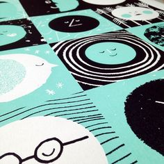12 Moons Screenprint Detail (Screenprinting by Yet)