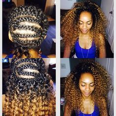 OMBRE CROCHET BRAIDS: FREETRESS DEEPTWIST. TWO TONE.https://instagram.com/__ashleydaniellee/