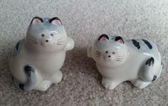 Takahashi Salt Pepper Set Cat Kitten Kitty Shakers Tabby Japan Ceramic   eBay