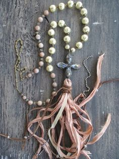 ❥ Slashknots~ tassel necklace