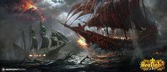 Ship battle by 88grzes on DeviantArt