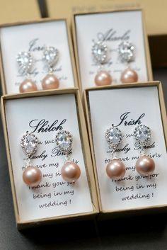 Blush champagne studs earrings,Bridesmaid Gift Jewelry Peach Drop Earrings Dangle Earrings Bridal Earrings Bridal Jewelry Wedding Jewelry