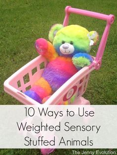 10 Activities to Use Weighted Sensory Stuffed Animals + DIY Tutorial | The Jenny Evolution