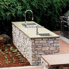 Outdoor Kitchen Ideas - back yard ideas