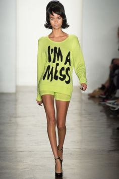 I should wear this shirt everyday as a warning to everyone I see. Jeremy Scott Spring 2014 Ready-to-Wear Collection Slideshow on Style.com