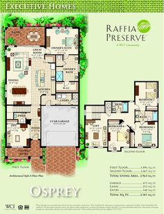 Raffia Preserve Naples   Osprey Floorplan