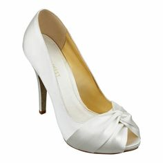 """As seen in the Fall issue of The Knot..... Peep toe pump on a 4 1/2"""" heel and 1/4"""" platform."""
