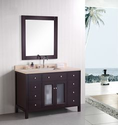 Venetian 48″ Single Sink Vanity Set in Espresso. If you love this image like and leave a comment with emoji below :)