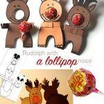 Two Paper Reindeers