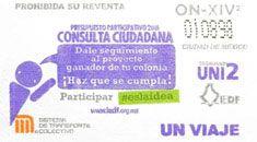 Para promover el presupuesto participativo 2016, el Sistema de Transporte Colectivo puso a la venta  una edición especial de boletos, a partir del 24 de diciembre.