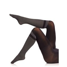 Spanx Faux Socks Tights (1,535 DOP) ❤ liked on Polyvore featuring intimates, hosiery, tights, apparel & accessories, very black, spanx pantyhose, spanx tights, spanx hosiery, spanx and spanx stockings