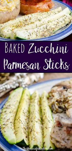 Baked Zucchini Parmesan Sticks. Easy, healthy, versatile side dish. Zucchini sprinkled with Parmesan and seasoning, then baked to perfect crisp-tenderness. #zucchini #parmesan #sidedish Breaded Zucchini Parmesan Is Fried Until Crispy And Baked In A Casserole Dish With Layers Of Marinara Sauce And Mozzarella Cheese. Healthy Sides, Healthy Side Dishes, Vegetable Side Dishes, Side Dishes Easy, Side Dish Recipes, Vegetable Recipes, Baked Zucchini Parmesan, Bake Zucchini, Healthy Zucchini