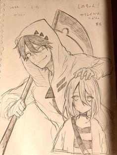 Angel of death Dark Art Drawings, Anime Drawings Sketches, Anime Sketch, Cute Drawings, Anime Character Drawing, Satsuriku No Tenshi, Angel Of Death, Anime Artwork, Drawing Reference