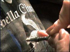 PART 1 - Glass Engraving - Christening goblet - Lesley Pyke - YouTube