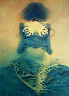 Zdzislaw Beksinski Gallery: Gallery of the year 1983 Arte Horror, Horror Art, Fantasy Kunst, Fantasy Art, Art Visionnaire, Bizarre, Illustration, Surreal Art, Macabre
