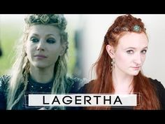 Lagertha always rocks the most awesome and aggressive battle braids in Vikings. Check out this tutorial to learn how to replicate her warrior hairstyles! Viking Braids, Viking Hair, Summer Hairstyles, Braided Hairstyles, Norse Clothing, Cinderella Hair, Lace Braid, Lagertha, Plaits