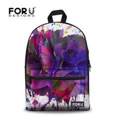 Women's Girls' Canvas Shoulder Bag Cool Backpack Travel Satchel School Rucksack  #FORUDESIGNS #Backpack