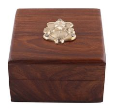 Bulk Wholesale Ganesha Keepsake Box in Rosewood – Handmade Trinket Box / Accessory Organizer with Brass Motif of Lord Ganesha – Home Décor / Thoughtful Gifts from India Handmade Jewelry Box, Handmade Home Decor, Custom Jewelry, Sterling Jewelry, Sterling Silver Rings, Home Decor Vases, Metal Flowers, Keepsake Boxes, Trinket Boxes