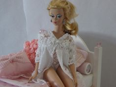 Barbie Clothing Underwear 2 Pc. Lingerie Baby White Lace Teddy and Gown for Silkstone on Etsy, $19.99