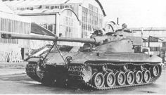 Bat Chatillon 25t - french prototype medium tank with oscillating turret and autoloader mechanism. This machine was an extrapolation of the AMX 13, but french engineers abandoned this project, when they started developing of AMX 30. Only two prototypes of Batignolles-Châtillon 25t were builded in 1954.