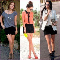 black-crochet shorts