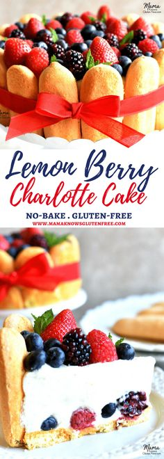 Lemon Berry Charlotte Cake {No-Bake, Gluten-Free} - Mama Knows Gluten Free